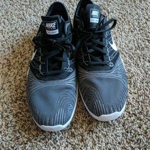 Nike Flex Adapt Size 10 grey and black